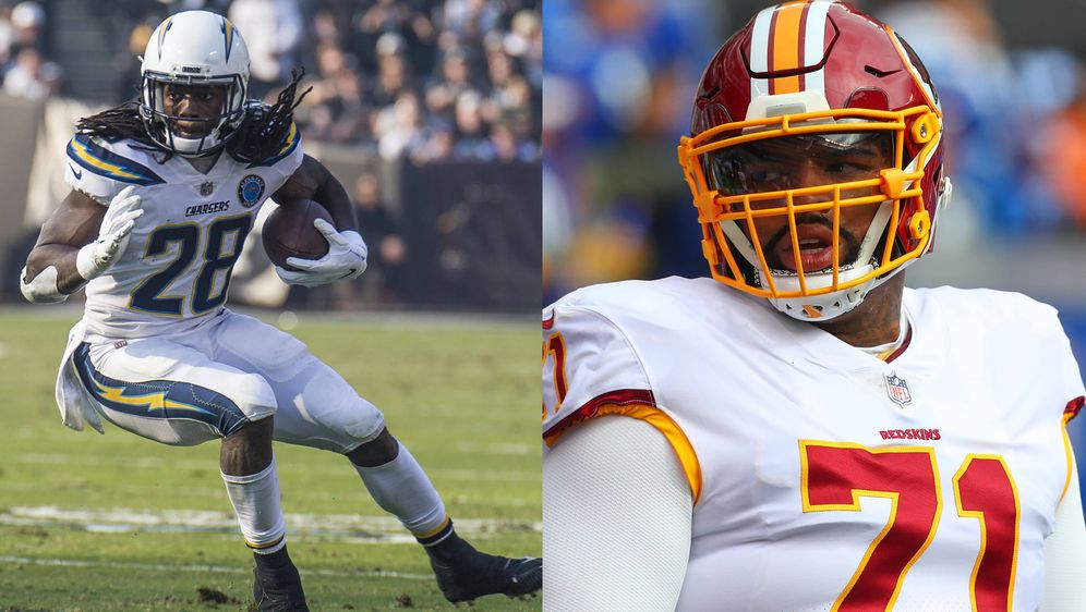Melvin Gordon und Trent Williams (re.). - Bildquelle: imago