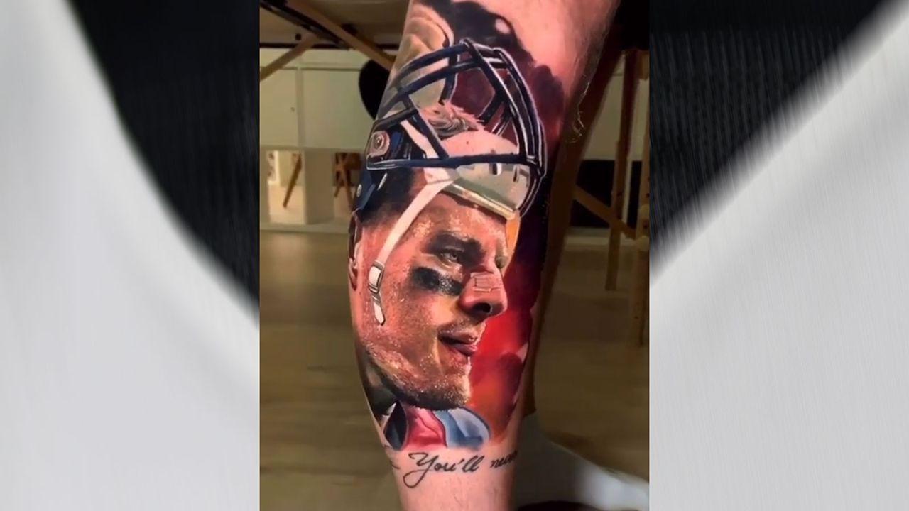 Deutscher Fan trägt Watt auf dem Unterschenkel - Bildquelle: 2019 Getty Images, Instagram/jjwatt