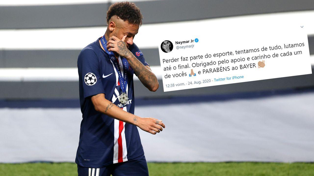 Neymar gratuliert Bayer statt Bayern zum Champions-Leauge-Titel - Bildquelle: Getty Images/twitter@neymarjr