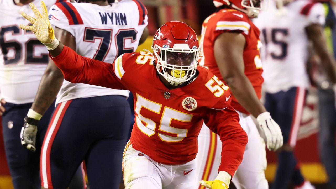 Geteilter 18. Platz: Frank Clark (Defensive End, Kansas City Chiefs) - Bildquelle: Getty Images