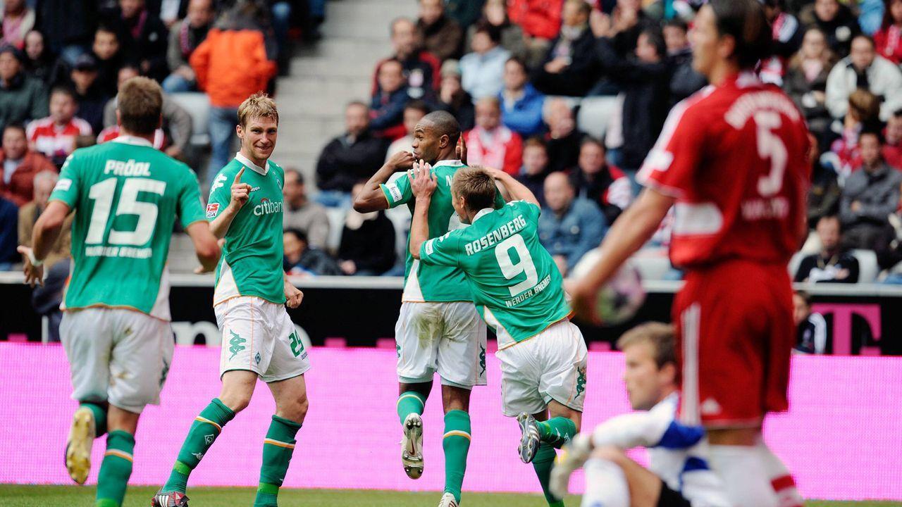 So sah die Welt aus als Werder zuletzt gegen die Bayern gewann - Bildquelle: imago sportfotodienst