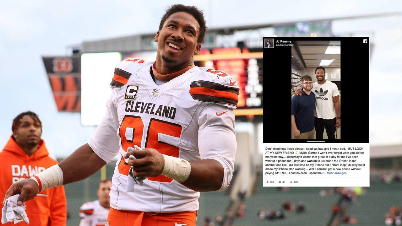 Keine Kohle: Browns-Star Garrett hilft Fan aus der Patsche - Bildquelle: imago/Icon SMI