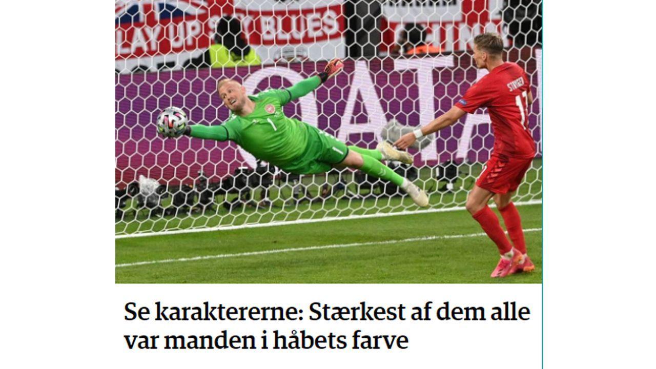 """Jyllands Posten: """"Der Stärkste von allen war der Mann in der Farbe der Hoffnung""""  - Bildquelle: Jyllands Posten"""