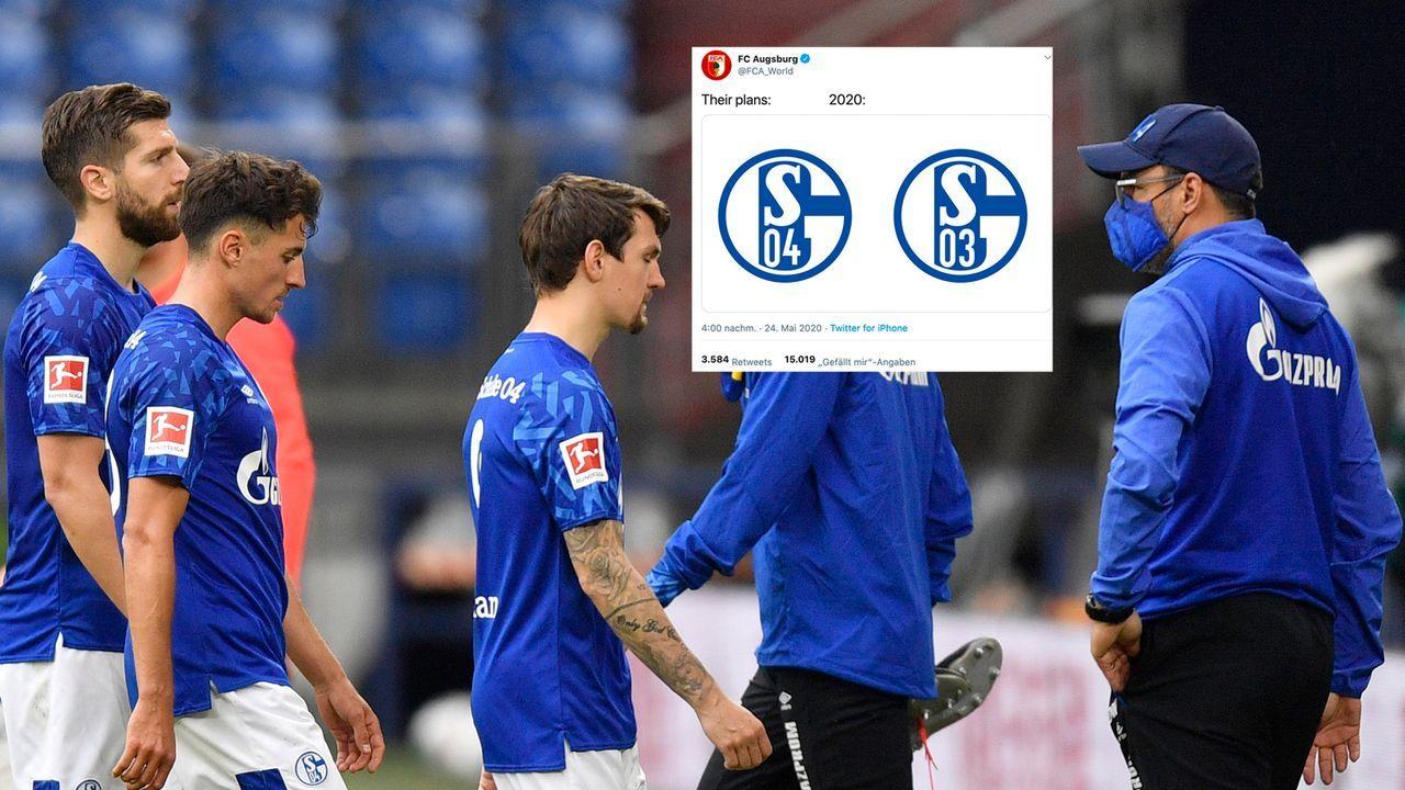 S03: Augsburger Spott für Schalkes Verlierer