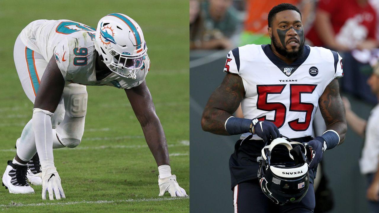 Shaq Lawson (Houston Texans) und Benardrick McKinney (Miami Dolphins) - Bildquelle: Getty Images/imago images