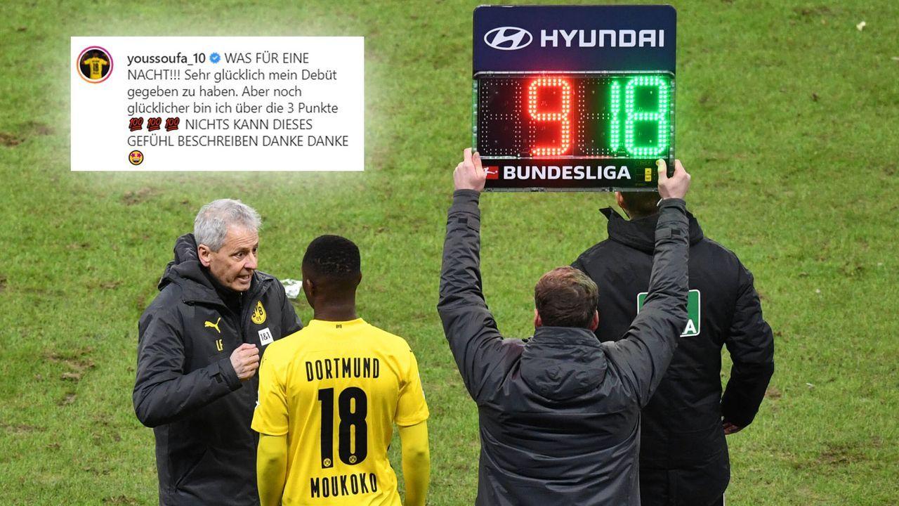 Moukoko zeigt sich nach Bundesliga-Debüt überglücklich - Bildquelle: Getty Images / Instagram youssoufa_10