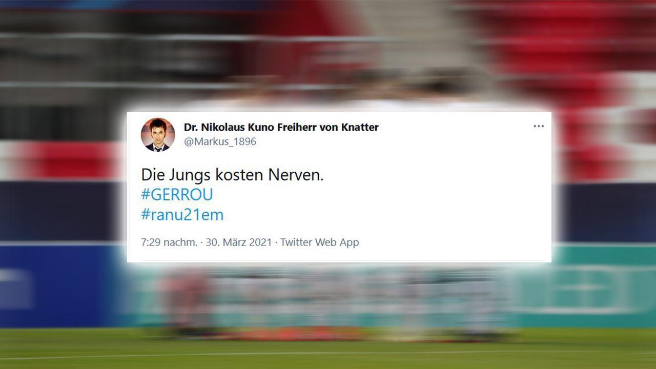 Nerven flattern - Bildquelle: Imago Images / Twitter Markus_1896
