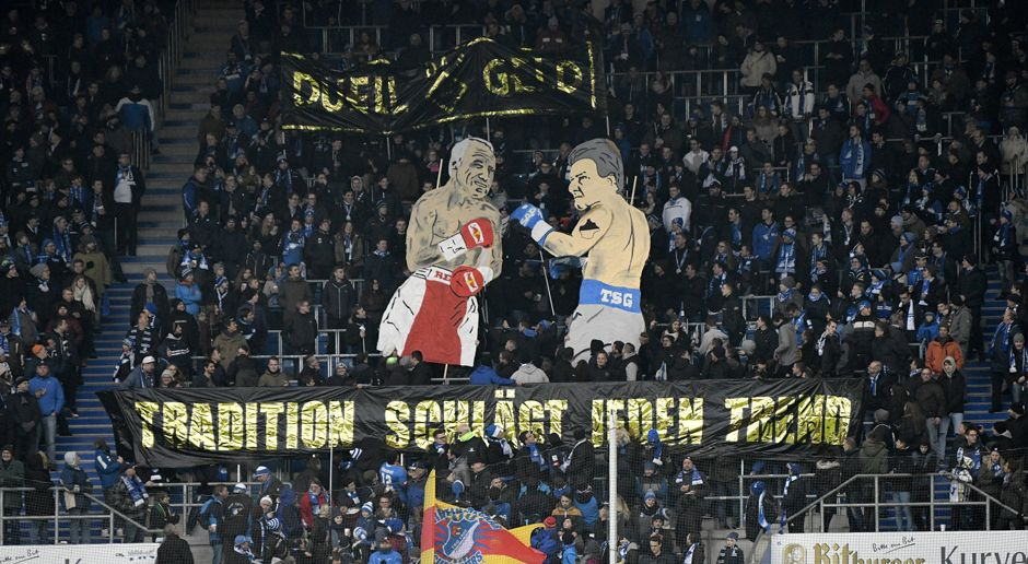 Hoffenheim-Choreo gegen RB Leipzig - Bildquelle: imago/Picture Point LE