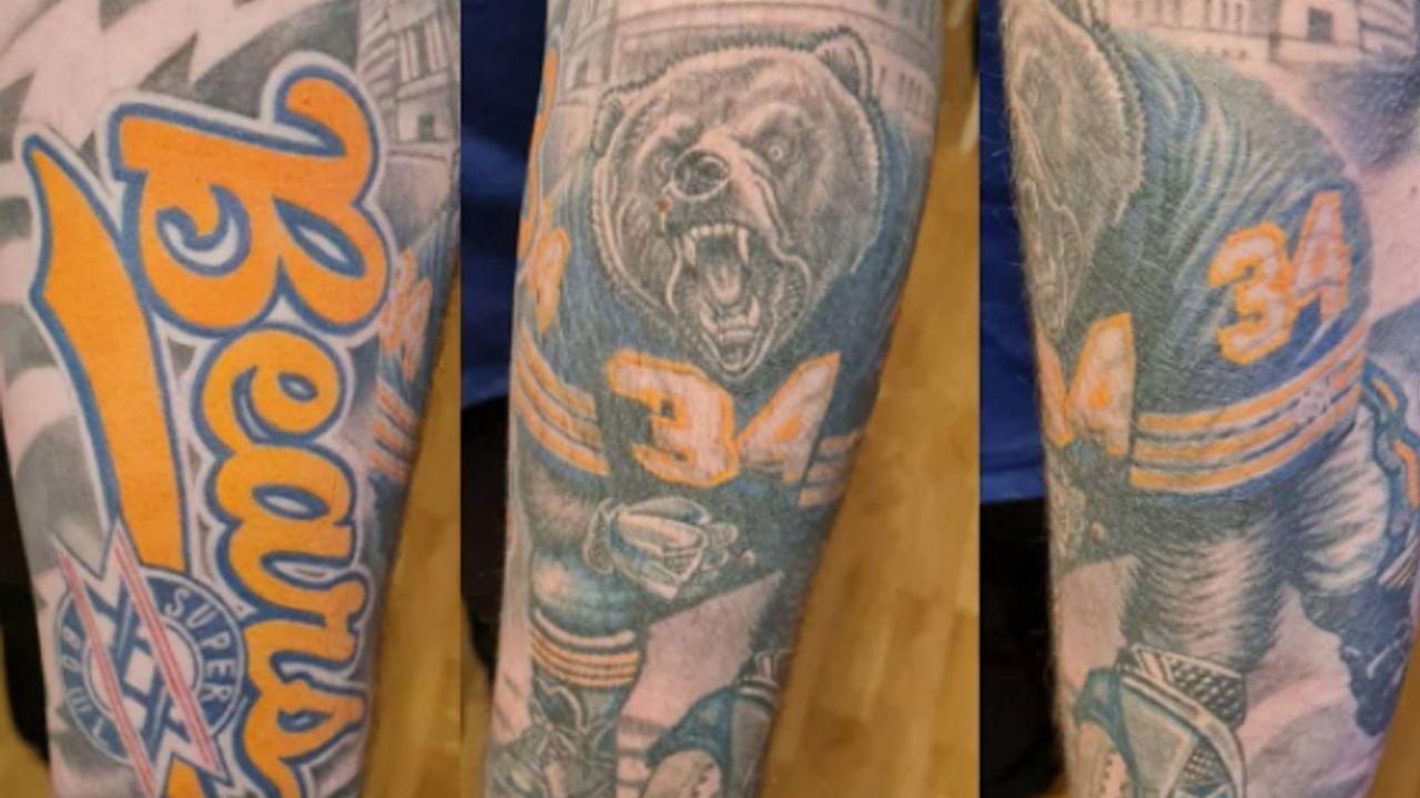Deutscher Bears-Fan mit starkem Arm-Tattoo - Bildquelle: Instagram/madame_poupoupidou