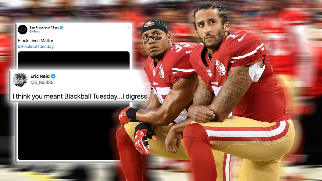 Doppelmoral bei Kaepernick: Eric Reid kritisiert 49ers für Blackout Tuesday-Tweet - Bildquelle: Getty Images