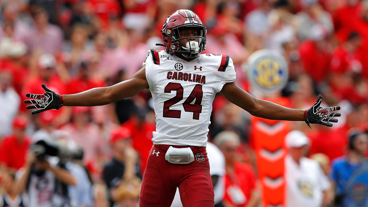 Israel Mukuamu, Cornerback, South Carolina - Bildquelle: Getty Images