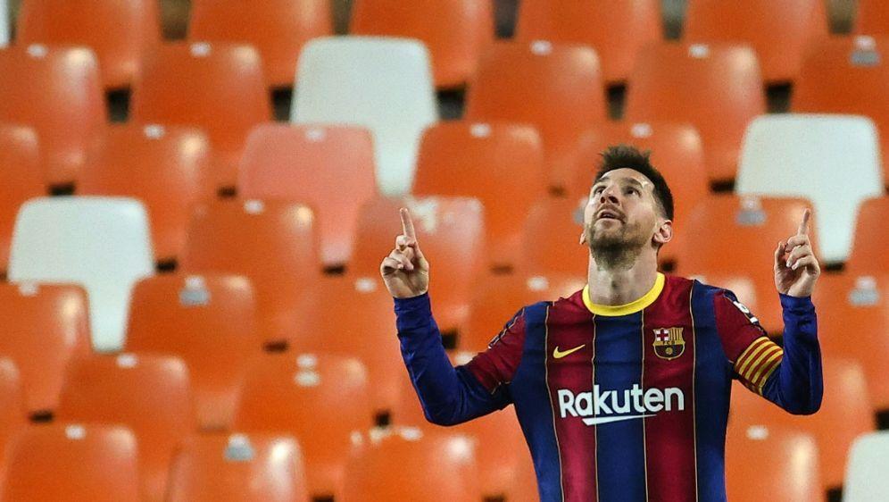 Einsam gejubelt,doppelt getroffen: Messi glänzt erneut - Bildquelle: AFPSIDJOSE JORDAN
