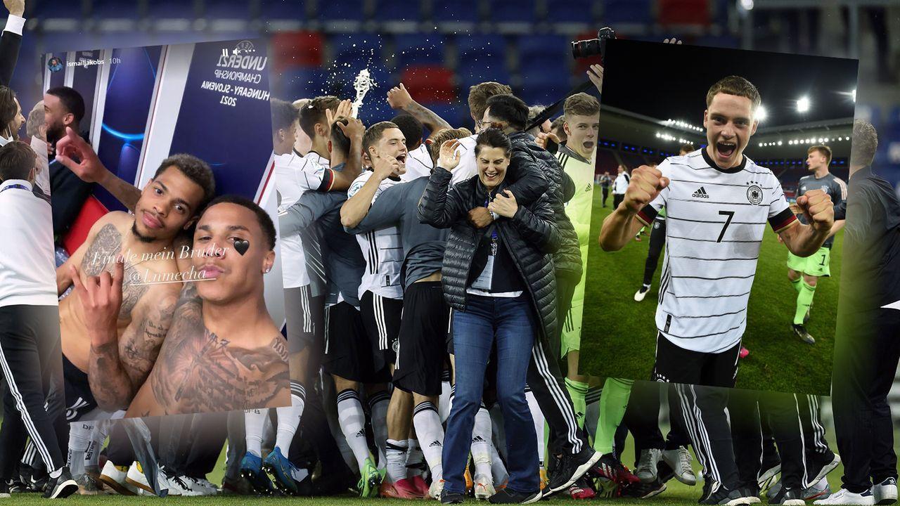 EM-Finale! Die Partybilder der deutschen U21 - Bildquelle: Imago Images/Instagram:Salih Özcan/Florian Wirtz