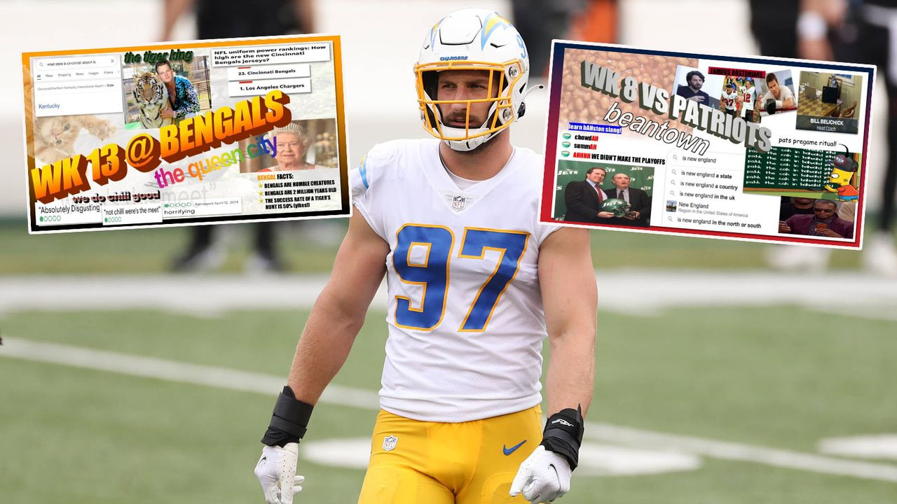 Die verrückte Spielplan-Präsentation von Joey Bosa und den Chargers - Bildquelle: imago images/Icon SMI/Los Angeles Chargers
