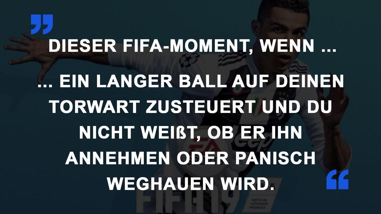 FIFA Momente Torwart Panik