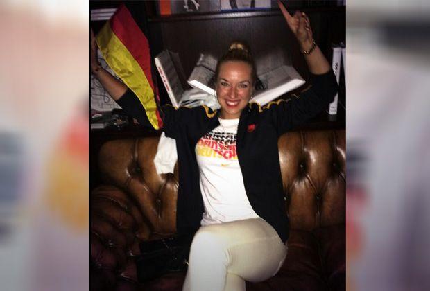 Lisickis Weltmeister-Selfies - Bildquelle: twitter.com / Sabine Lisicki