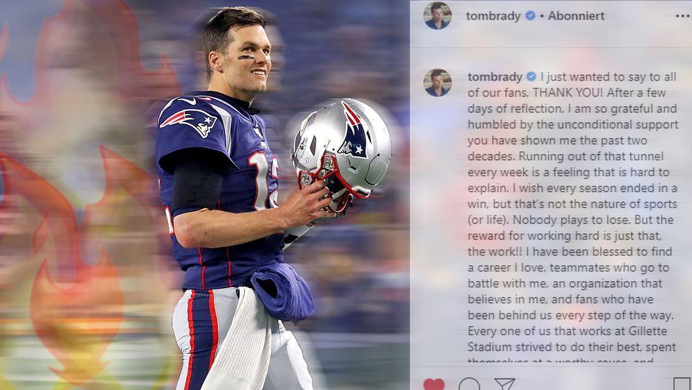 Hat mit der NFL noch nicht abgeschlossen: Tom Brady will in der Saison 2020 ... - Bildquelle: Instagram: @tombrady