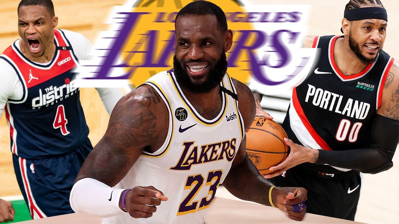 LeBron, Melo, Westbrook & Co.: Die Oldtime Lakers greifen an - Bildquelle: 2020 Getty Images