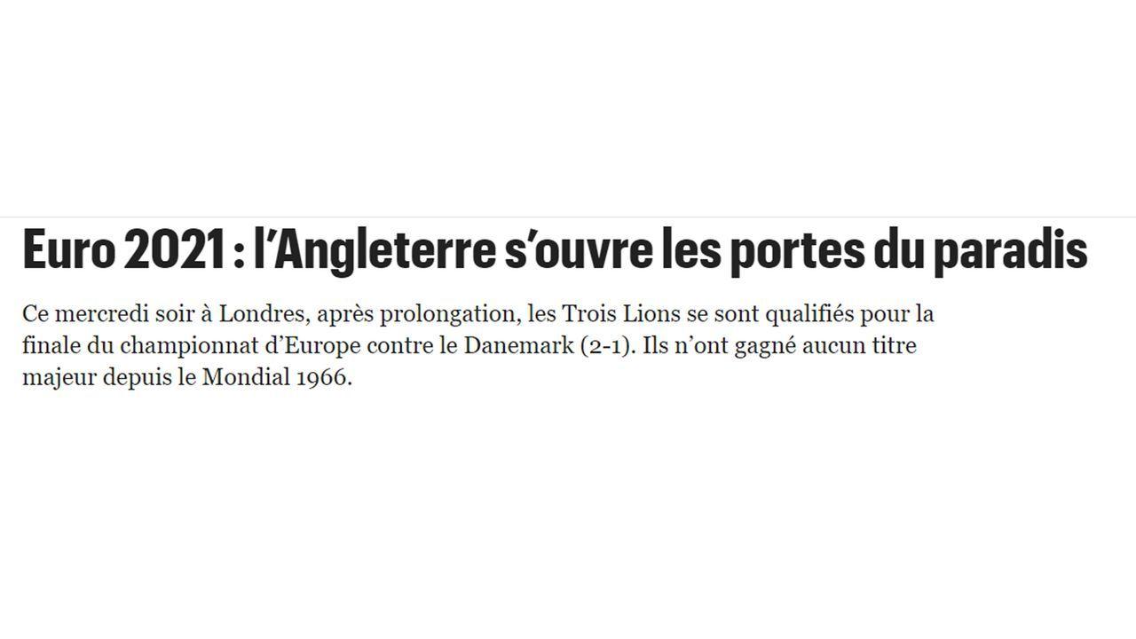 """Le Parisien: """"Das Tor zum Paradies"""" - Bildquelle: Le Parisien"""