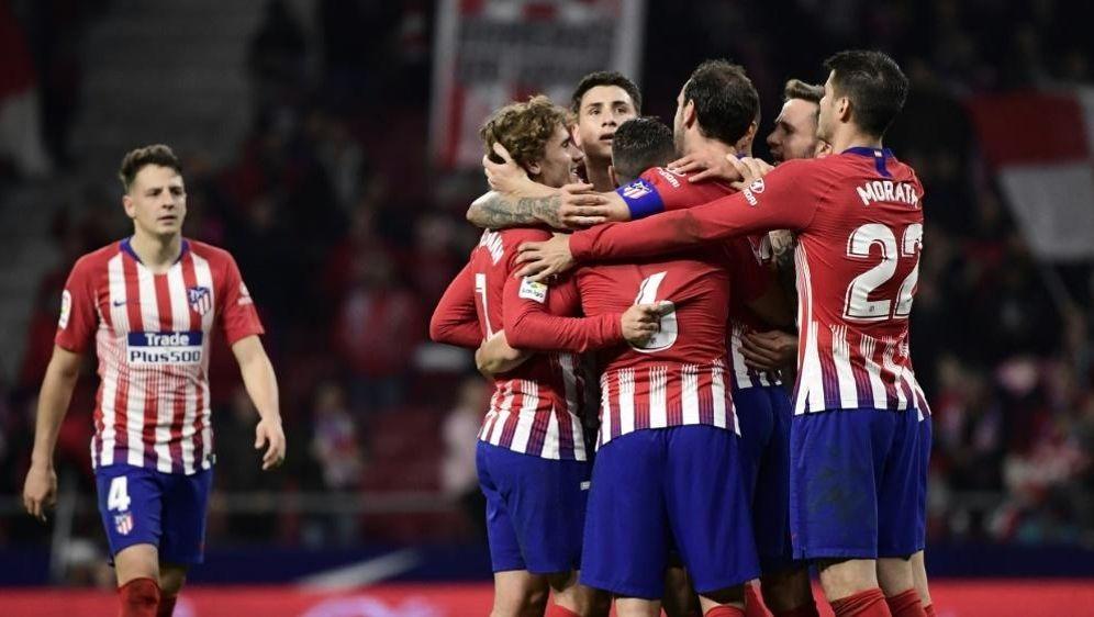 Atletico Madrid bejubelt einen Heimsieg gegen Girona - Bildquelle: AFPSIDJAVIER SORIANO