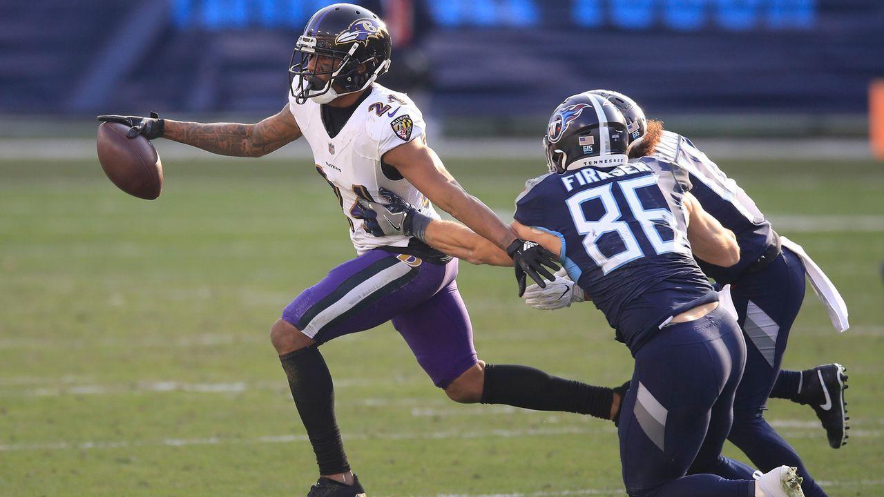 Marcus Peters (Baltimore Ravens) - Bildquelle: 2021 Getty Images