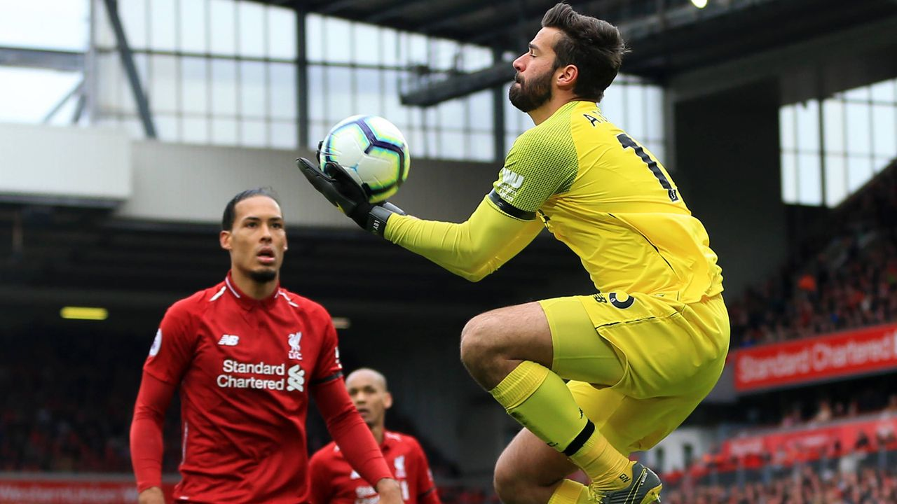 Tor: Alisson Becker (FC Liverpool) - Bildquelle: imago images / Action Plus