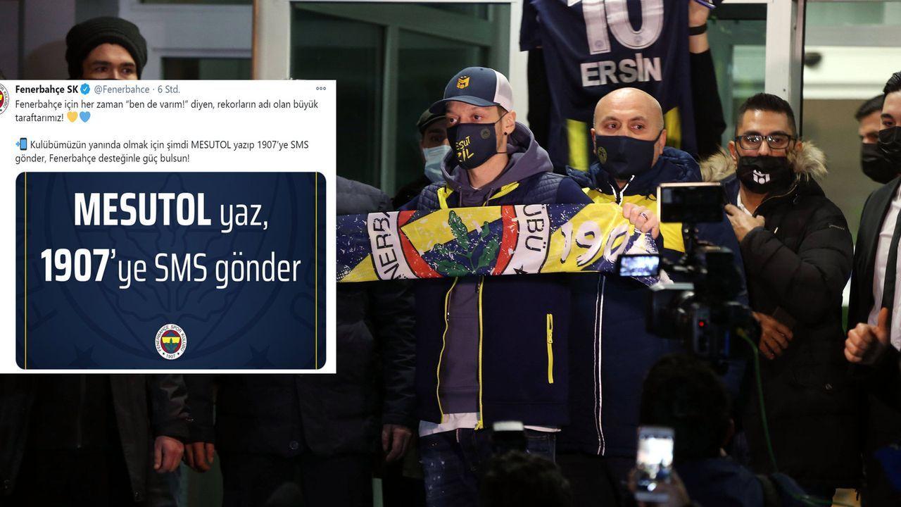 """Sei Mesut!"": Fenerbahce Istanbul startet kuriose SMS-Aktion - Bildquelle: imago images/twitter.com/Fenerbahce"