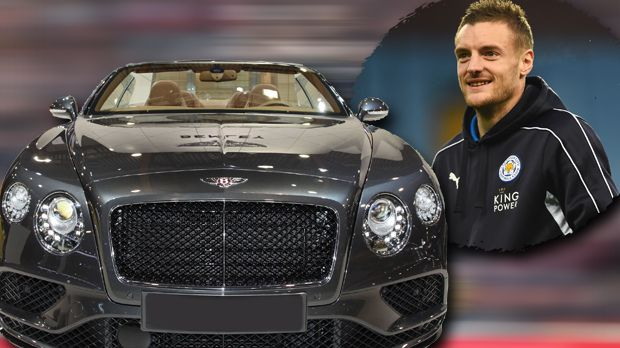Jamie Vardy kauft sich einen Bentley - Bildquelle:  Laurence Griffiths/Getty Images/imago/Sebastian Geisler