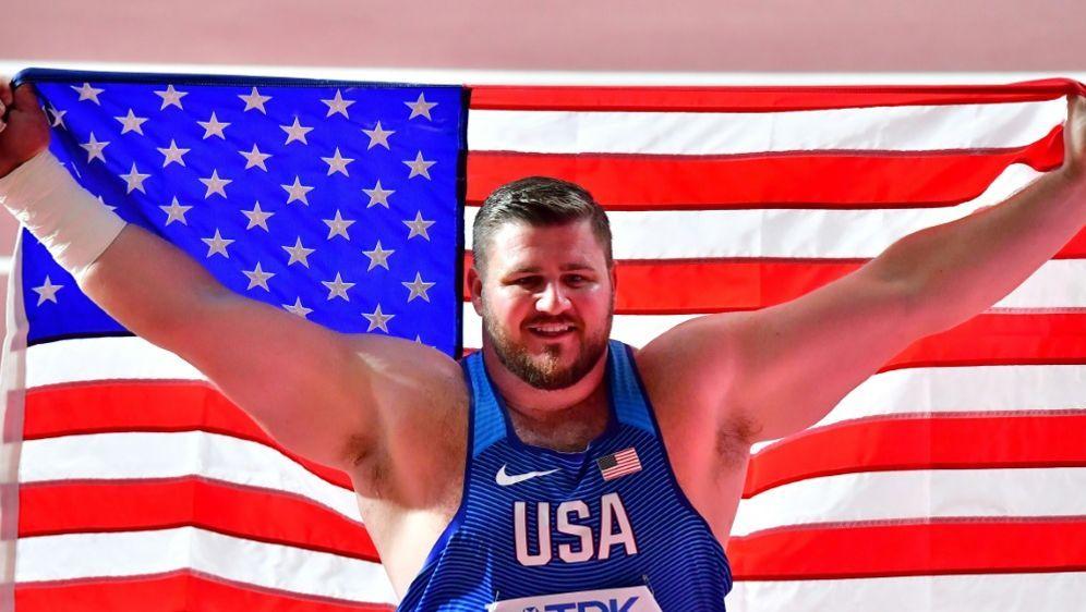 WM: Joe Kovacs gewinnt Gold im Kugelstoßen - Bildquelle: AFPSIDGiuseppe CACACE
