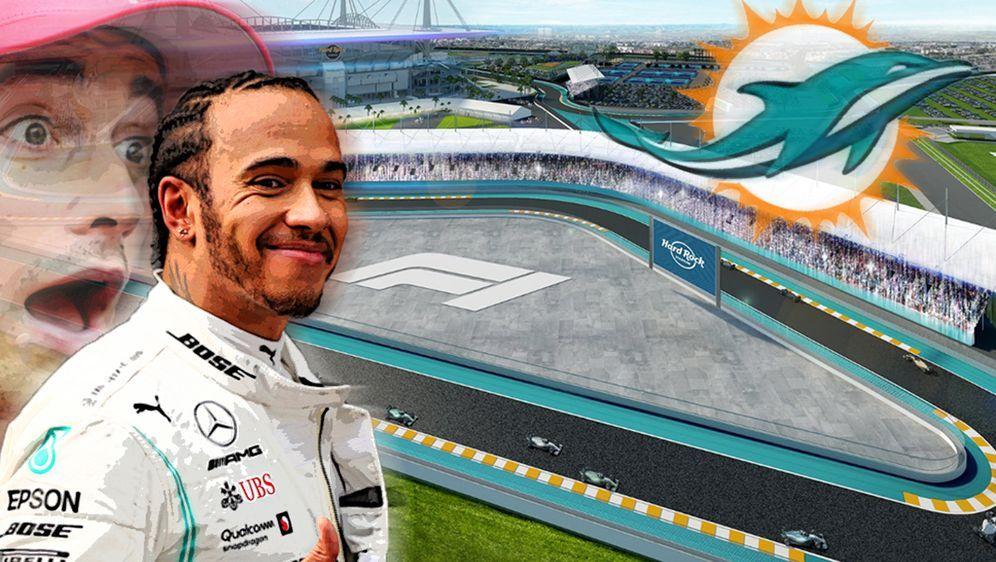 Lewis Hamilton könnte bereits 2021 in Miami fahren - Bildquelle: getty/Twitter @f1miami