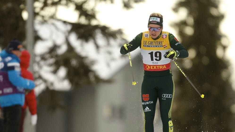 Souverän im Viertelfinale: Langläuferin Sandra Ringwald - Bildquelle: PIXATHLONPIXATHLONSID