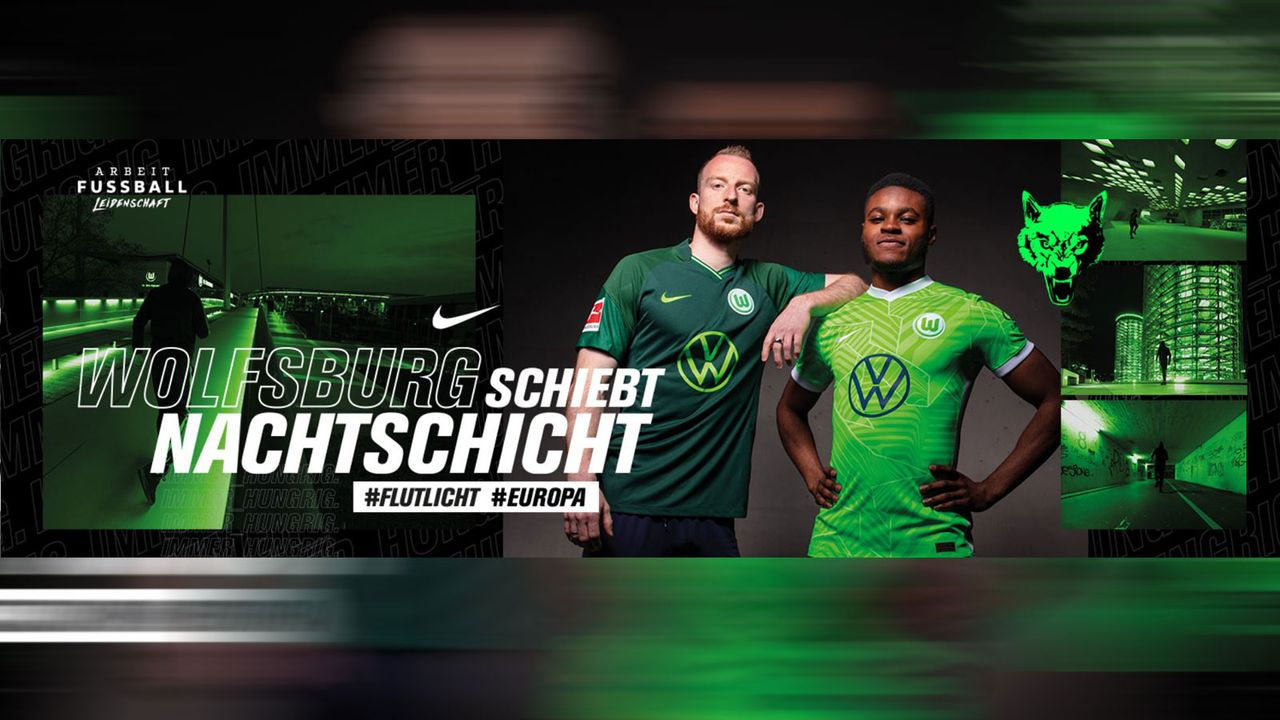 VfL Wolfsburg: Hellgrünes Heimtrikot mit abstrakten Akzenten - Bildquelle: twitter.com @VfL_Wolfsburg
