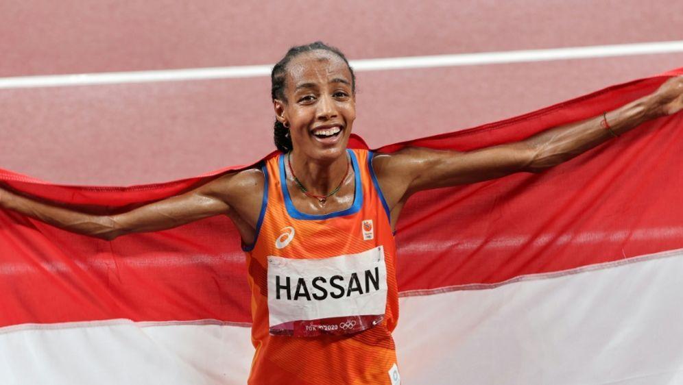 Niederländerin Sifan Hassan gewinnt Gold über 5000 m - Bildquelle: AFPSIDGiuseppe CACACE