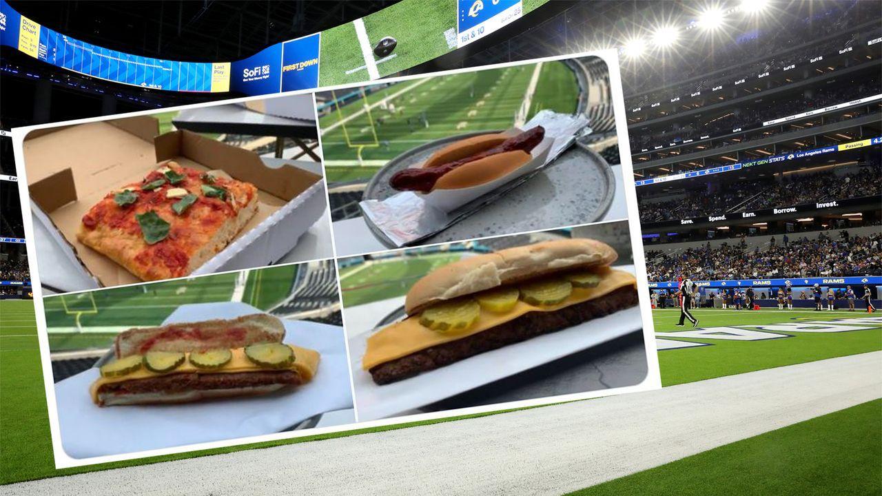 Kulinarische Premiere im SoFi-Stadium geht daneben - Fans toben im Netz - Bildquelle: Getty Images/Twitter ArashMarkazi