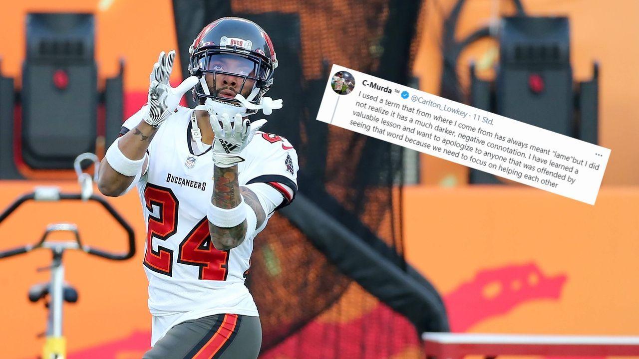 Bucs-Star twittert rassistisches Schimpfwort - Bildquelle: Imago/twitter.com/Carlton_Lowkey