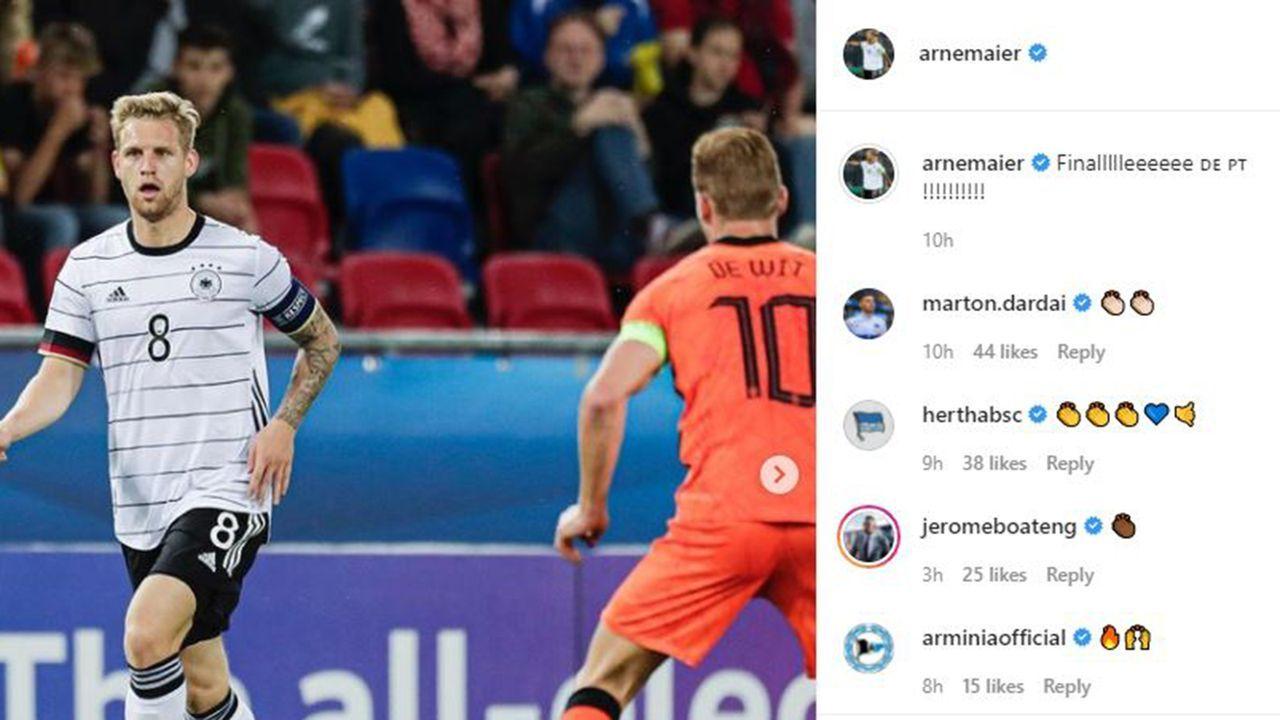 EM-Finale! Die Partybilder der deutschen U21 - Bildquelle: Instagram: Arne Maier