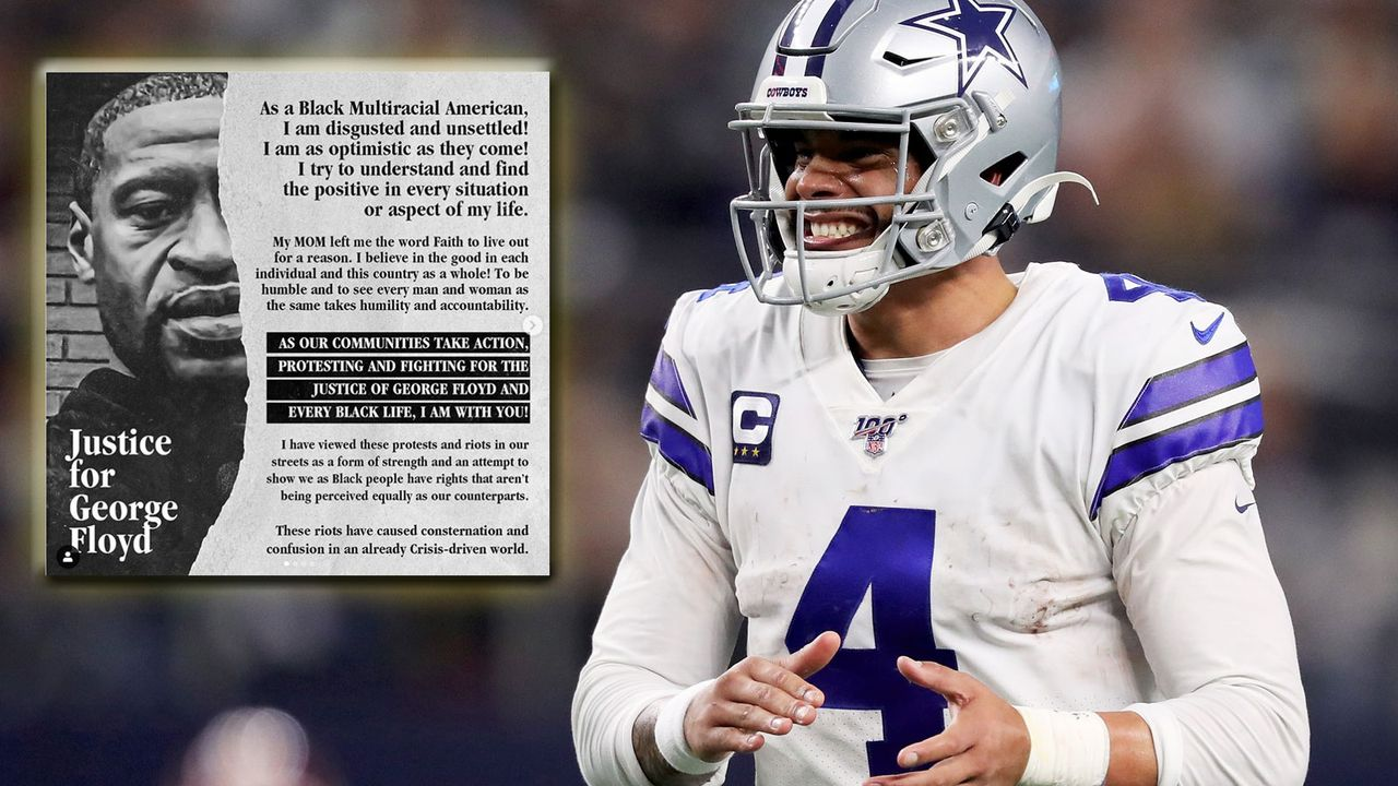 Dak Prescott will eine Million Dollar für Polizeitraining spenden - Bildquelle: 2019 Getty Images/instagram/_4dak