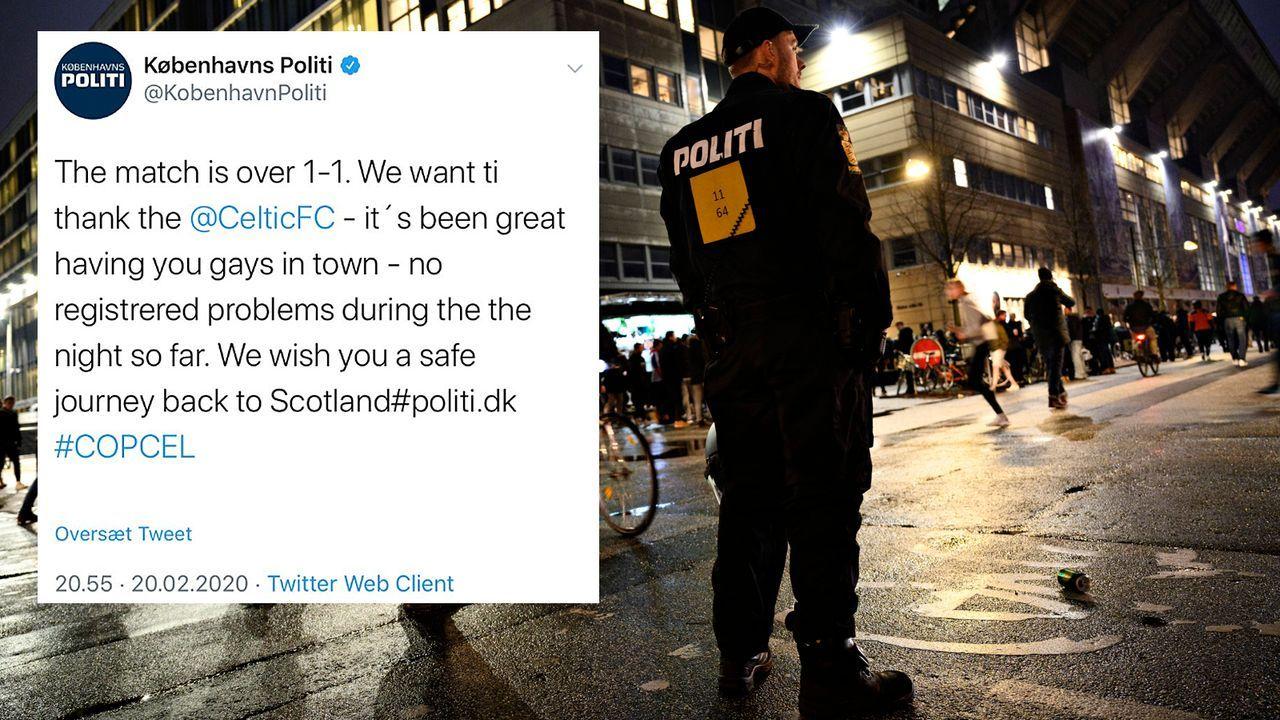 Gays statt Guys: Dänische Polizei blamiert sich mit Tweet an Celtic-Fans - Bildquelle: Imago/twitter@MagnusGNilsson