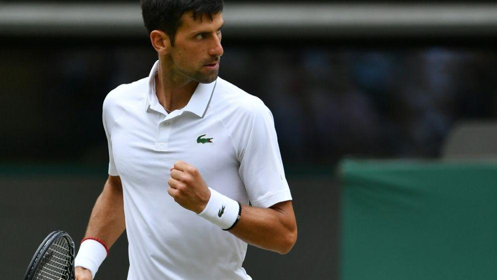 Djokovic zog in Wimbledon in das Viertelfinale ein - Bildquelle: AFPSIDGLYN KIRK