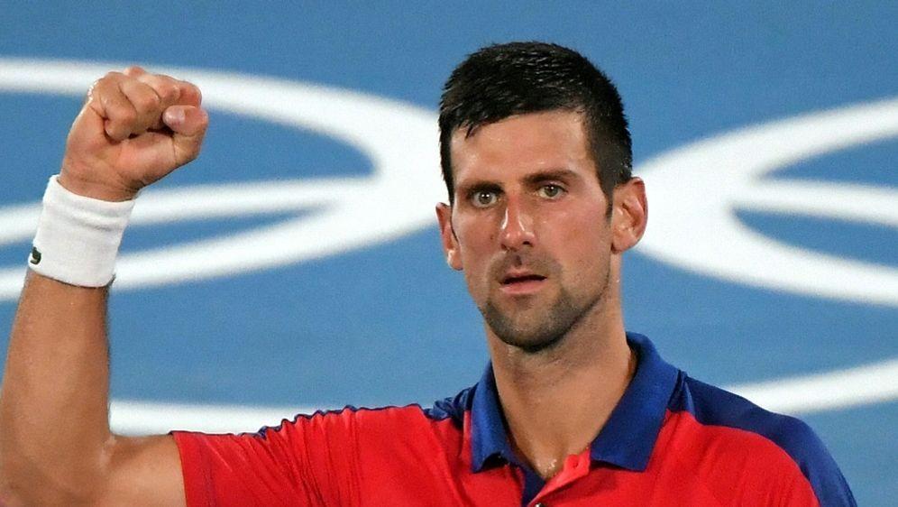 Im Halbfinale der Olympischen Spiele: Novak Djokovic - Bildquelle: AFPSIDTIZIANA FABI