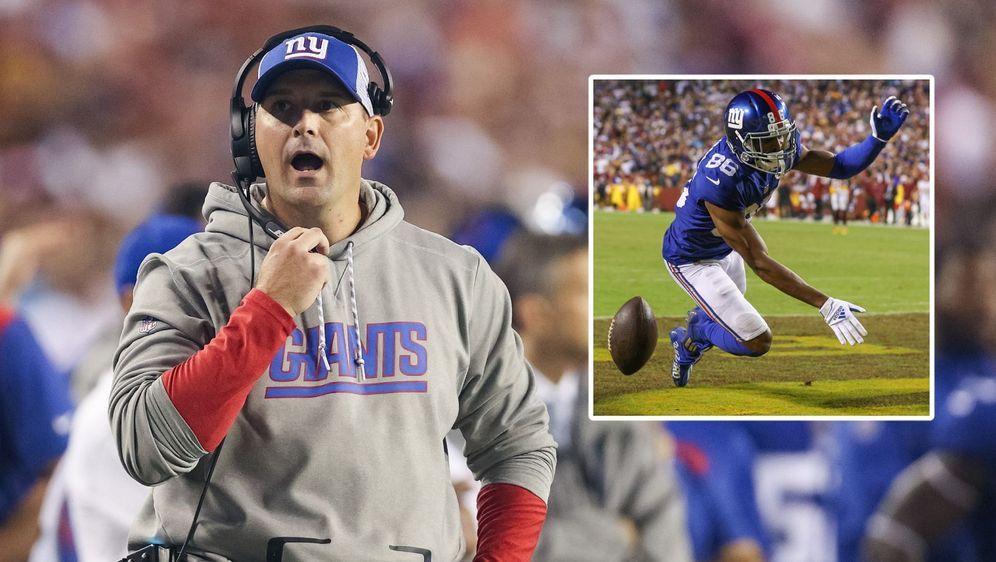 Muss sein Team wieder in die Bahn bekommen: Giants-Coach Joe Judge (l.). - Bildquelle: getty