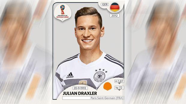 Julian Draxler (Paris St. Germain) - Bildquelle: Panini