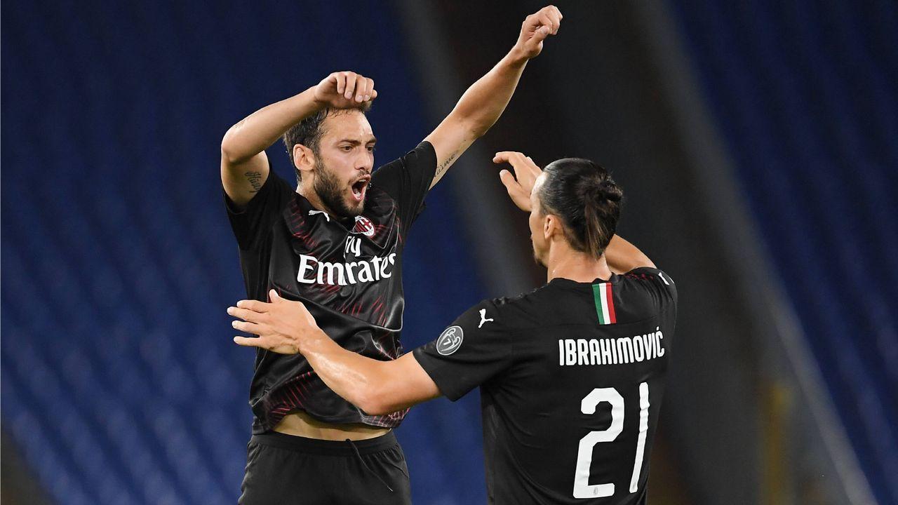 Hakan Calhanoglu & Zlatan Ibrahimovic (AC Mailand)