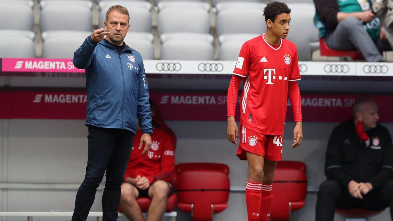 Bayerns jüngster Bundesliga-Torschütze: Das ist Jamal Musiala - Bildquelle: Stefan Matzke / sampics / Pool