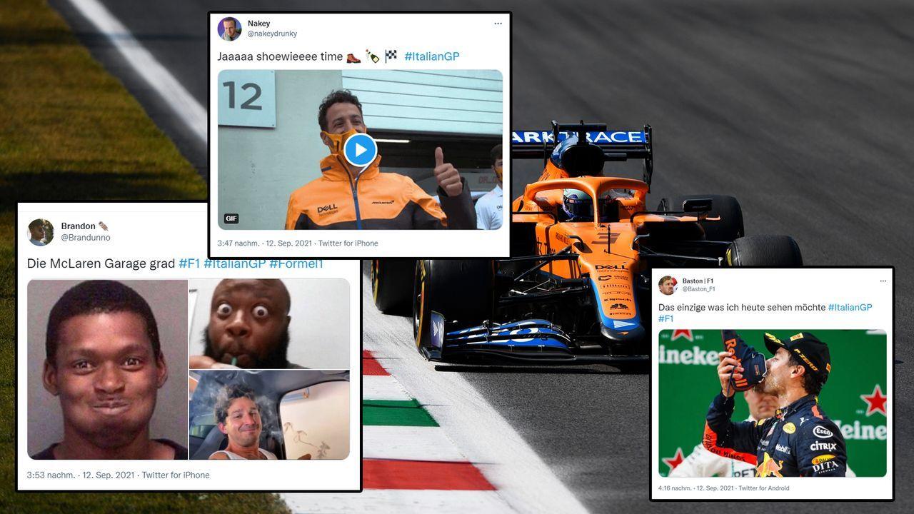 Daniel Ricciardo darf sich feiern lassen - Bildquelle: 2021 Getty Images