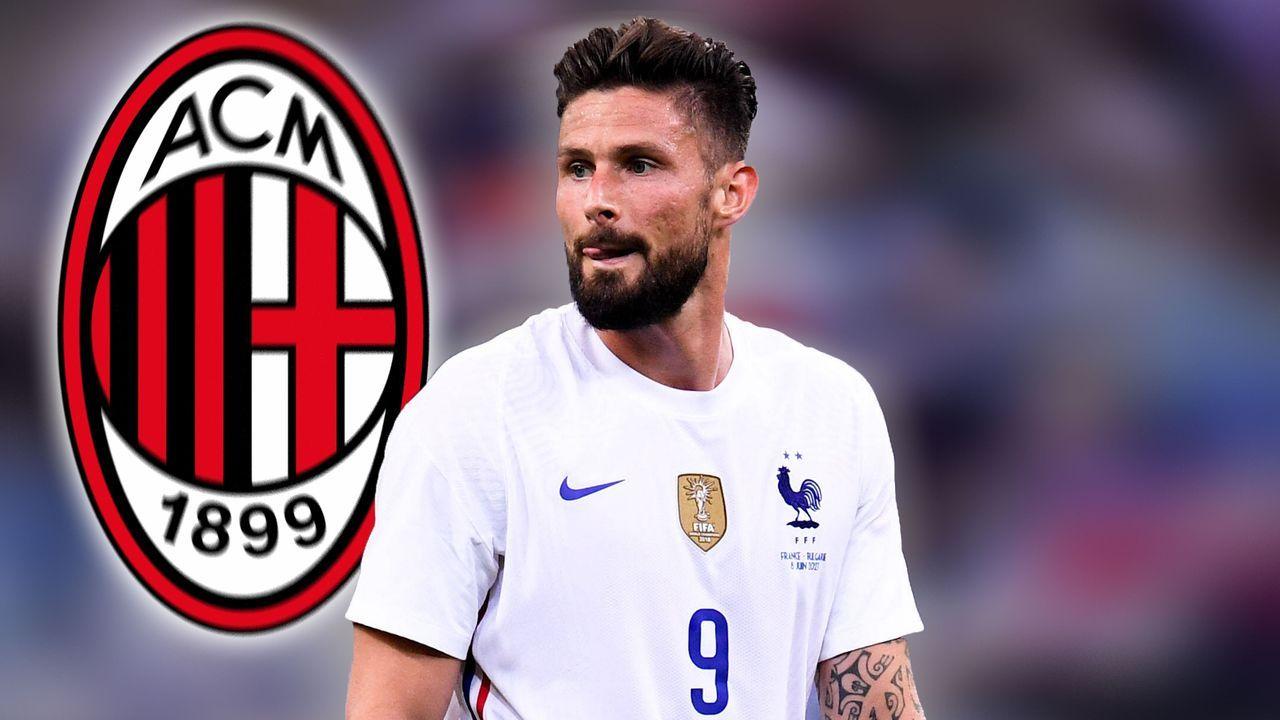 Olivier Giroud (AC Mailand) - Bildquelle: imago images/PanoramiC