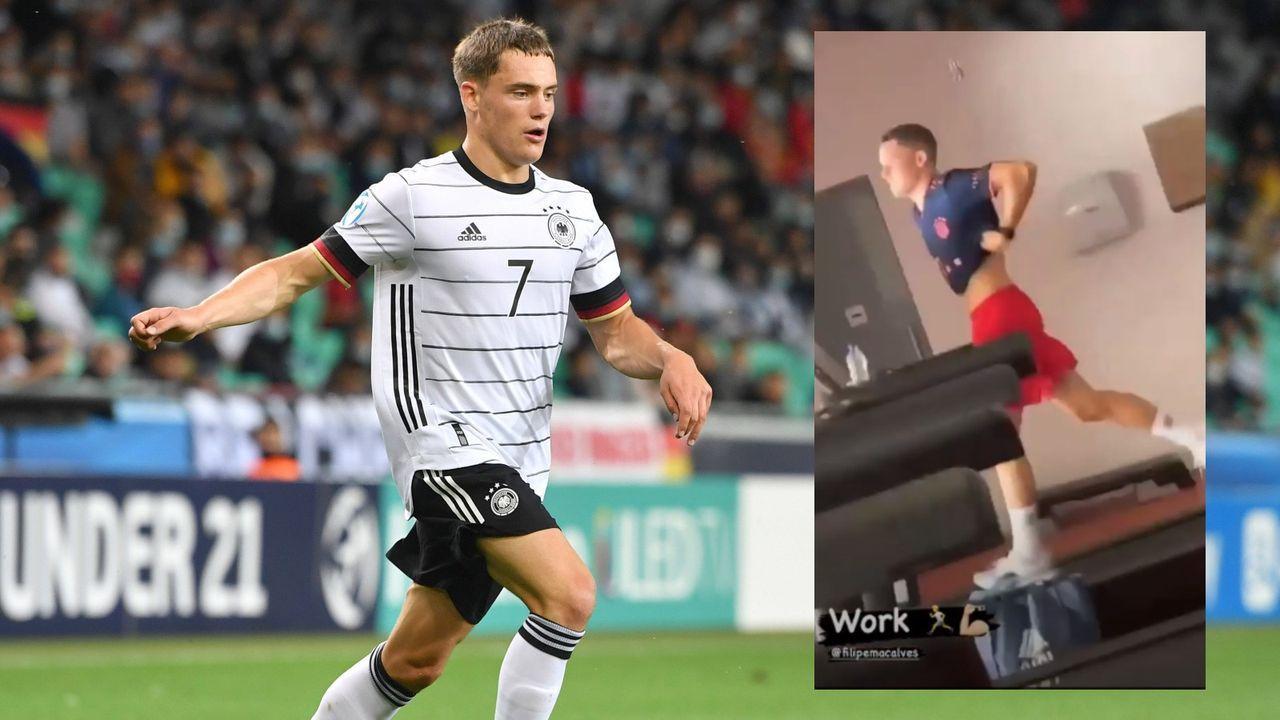 Hoppla! Toptalent Wirtz trainiert im Bayern-Trikot - Bildquelle: Imago/Instagram Florian Wirtz