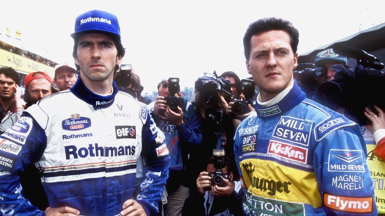 Michael Schumacher vs. Damon Hill - Bildquelle: imago/Laci Perenyi
