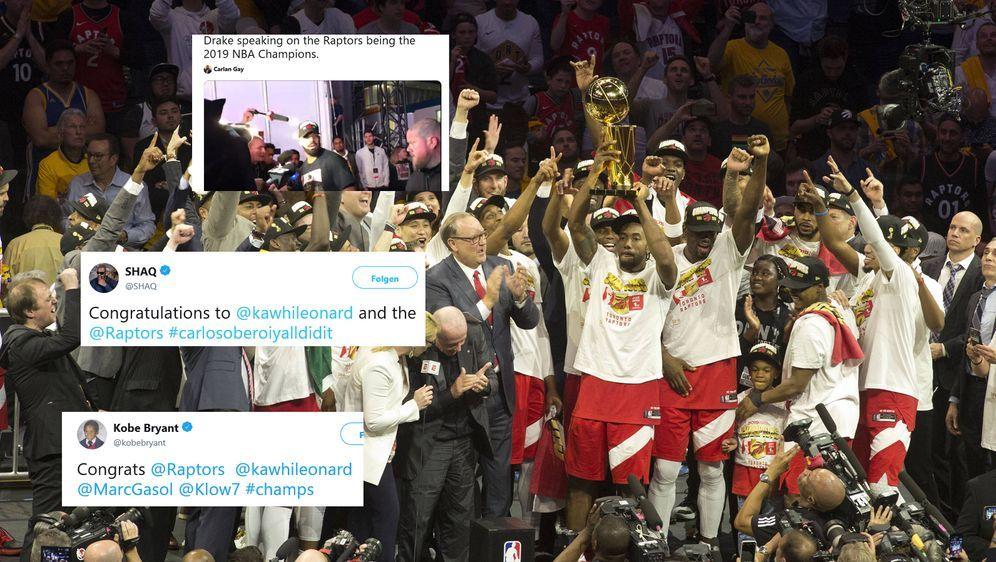 Die Meisterschaft der Toronto Raptors wurde auch im Netz gefeiert - Bildquelle: imago / twitter