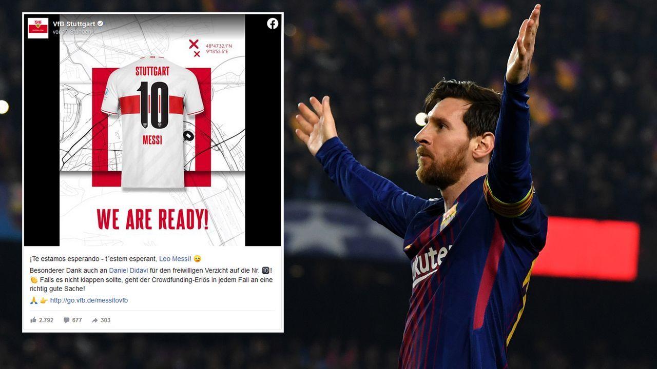 VfB Stuttgart unterstützt Messi-Crowdfunding - Bildquelle: VfB Stuttgart/Getty Images